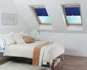 blue skylight blinds