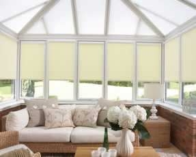 yellow conservatory blinds