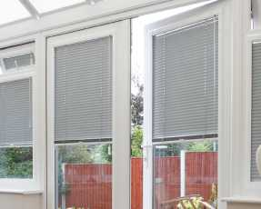 slate grey venetian blinds
