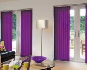 purple vertical blinds