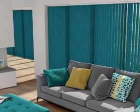 blue vertical blinds
