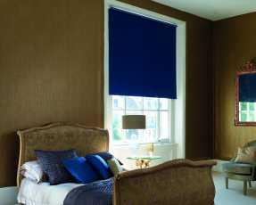 blue roller blinds