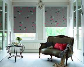 butterfly patterned roller blinds