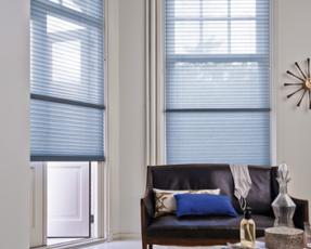 blue duette blinds
