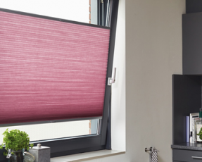 pink duette blinds