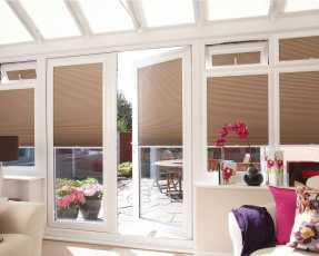 taupe conservatory blinds