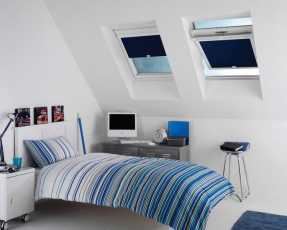 navy skylight blinds
