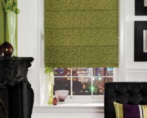 green roman blinds
