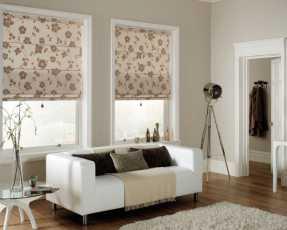 flowery roman blinds