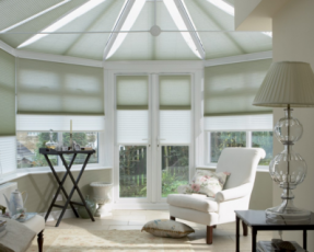 white duette blinds